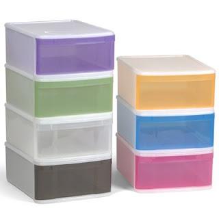 boite tiroir multicolore