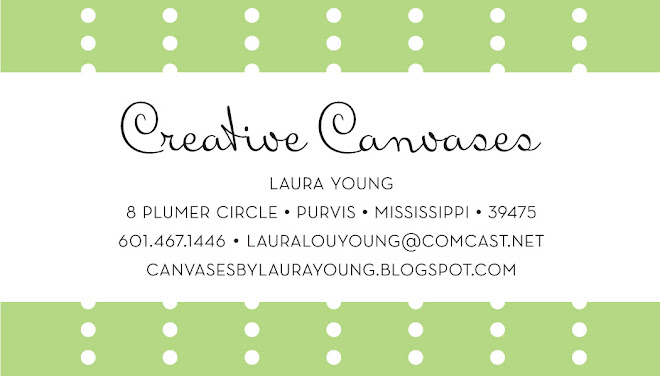 Canvases by Laura Young