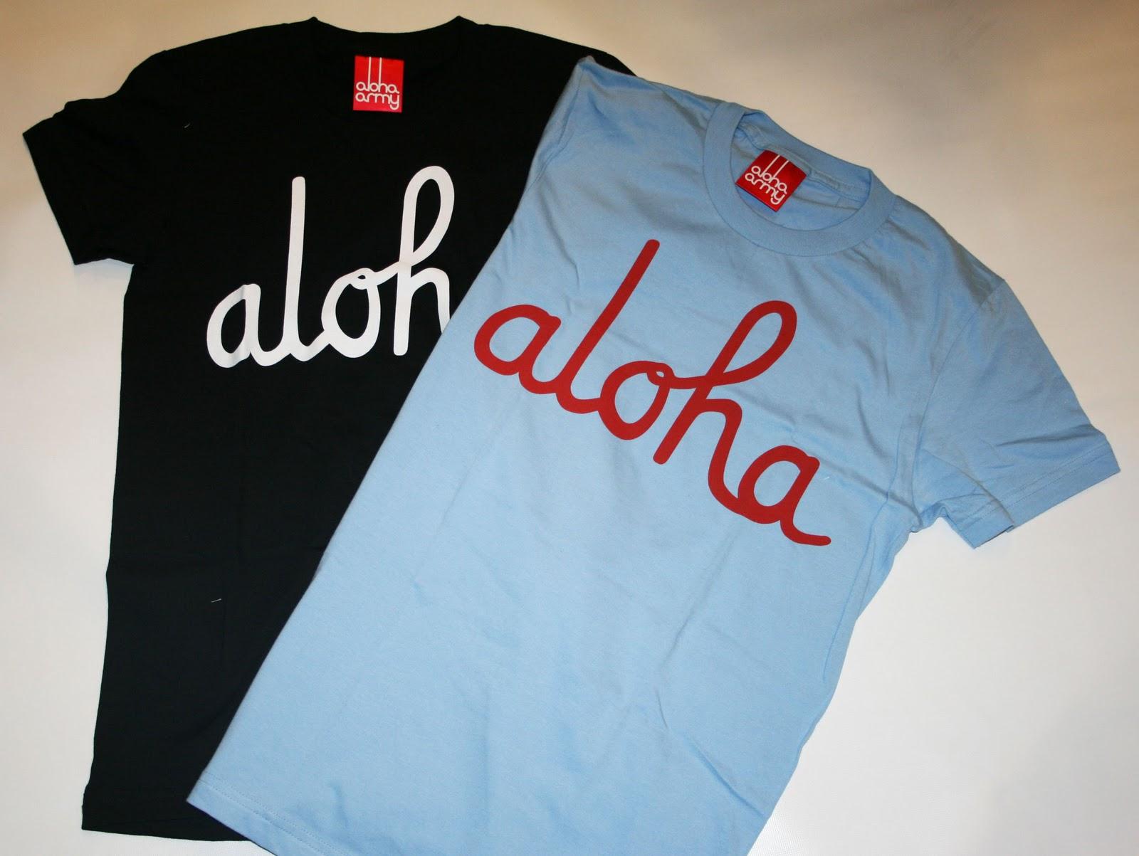 ONE EIGHTY MAUI, HAWAII: NEW ALOHA ARMY MENS and WOMENS ALOHA TEES