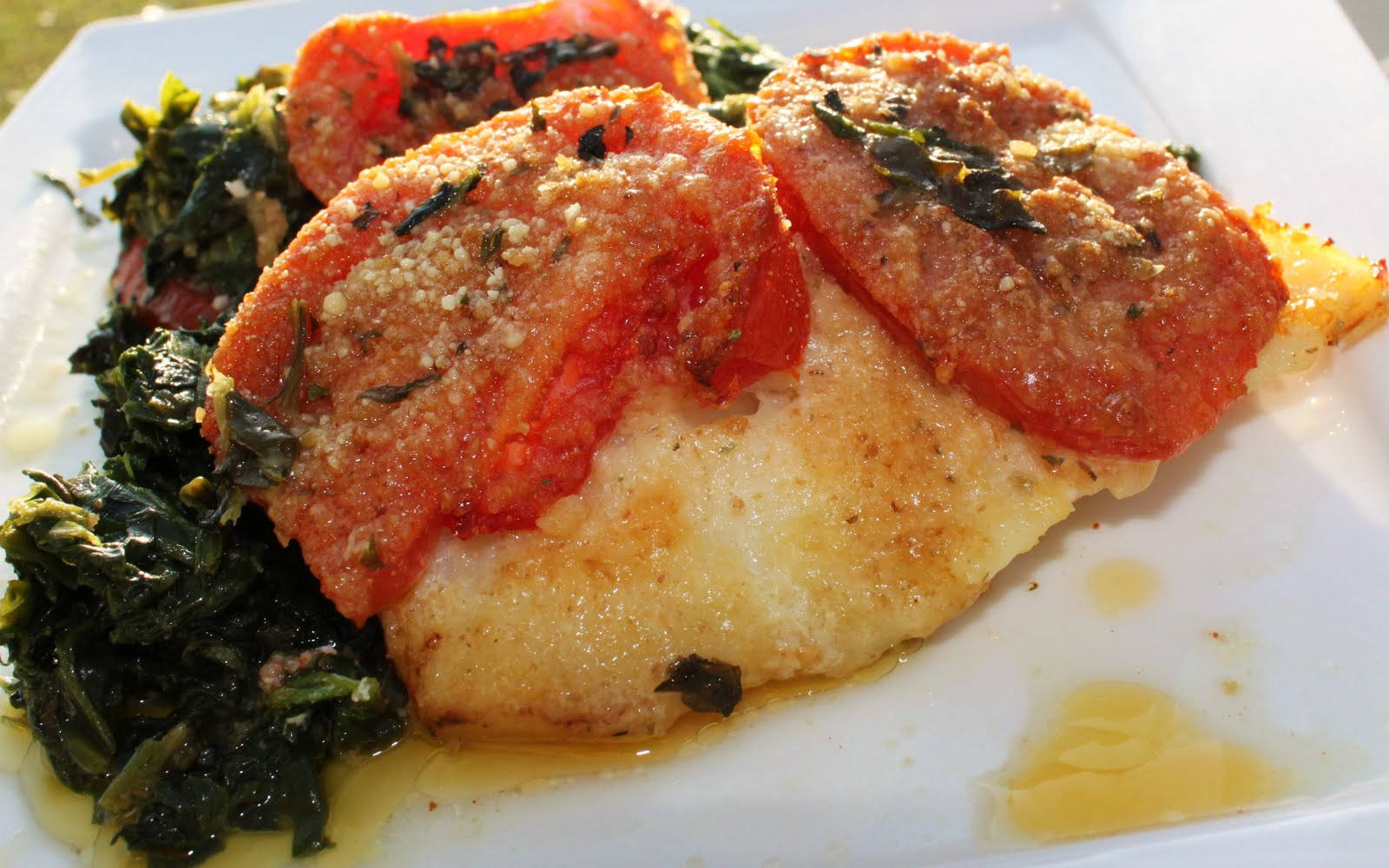 Baked Haddock with Spinach and Tomatoes Recipe