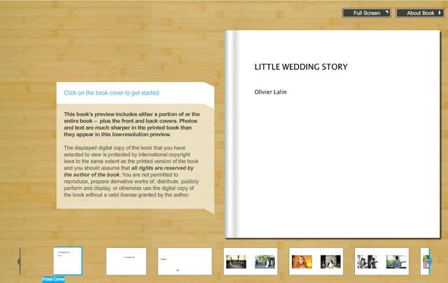 mini wedding album, mini portrait book