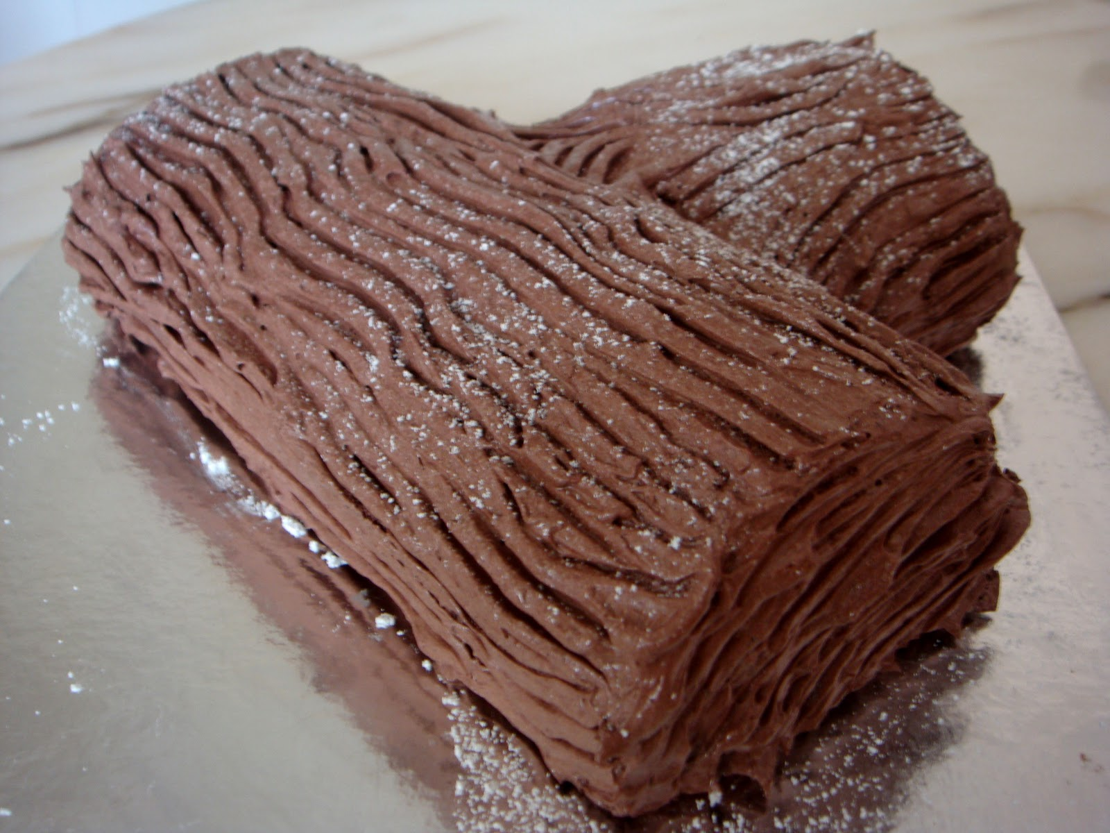 How to make a christmas yule log decoration - Bakertan S Christmas Goodies Chocolate Log Cake 1