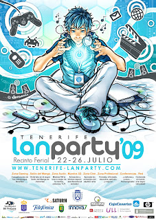 Cartel Tenerife Lan Party 2009