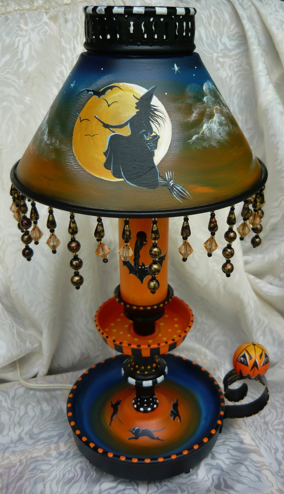 Magic Brush Studio Hp Vintage Metal Halloween Candlestick