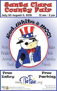 the upcoming santa clara county fair has free parking and free