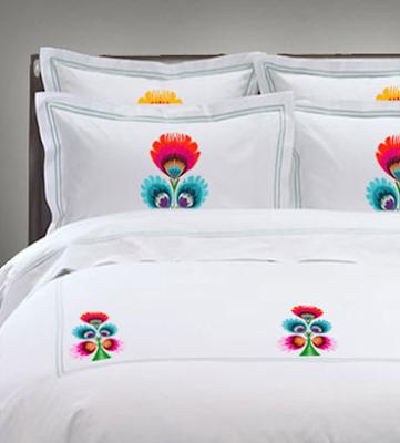 Marvel at new polish folk design for Elle decoration bed linen