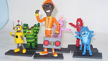 Yo gabba gabba  en porcelana fria