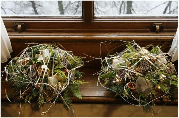 Festa di luce e forme fiorista mariangela blog - Rami decorativi natalizi ...