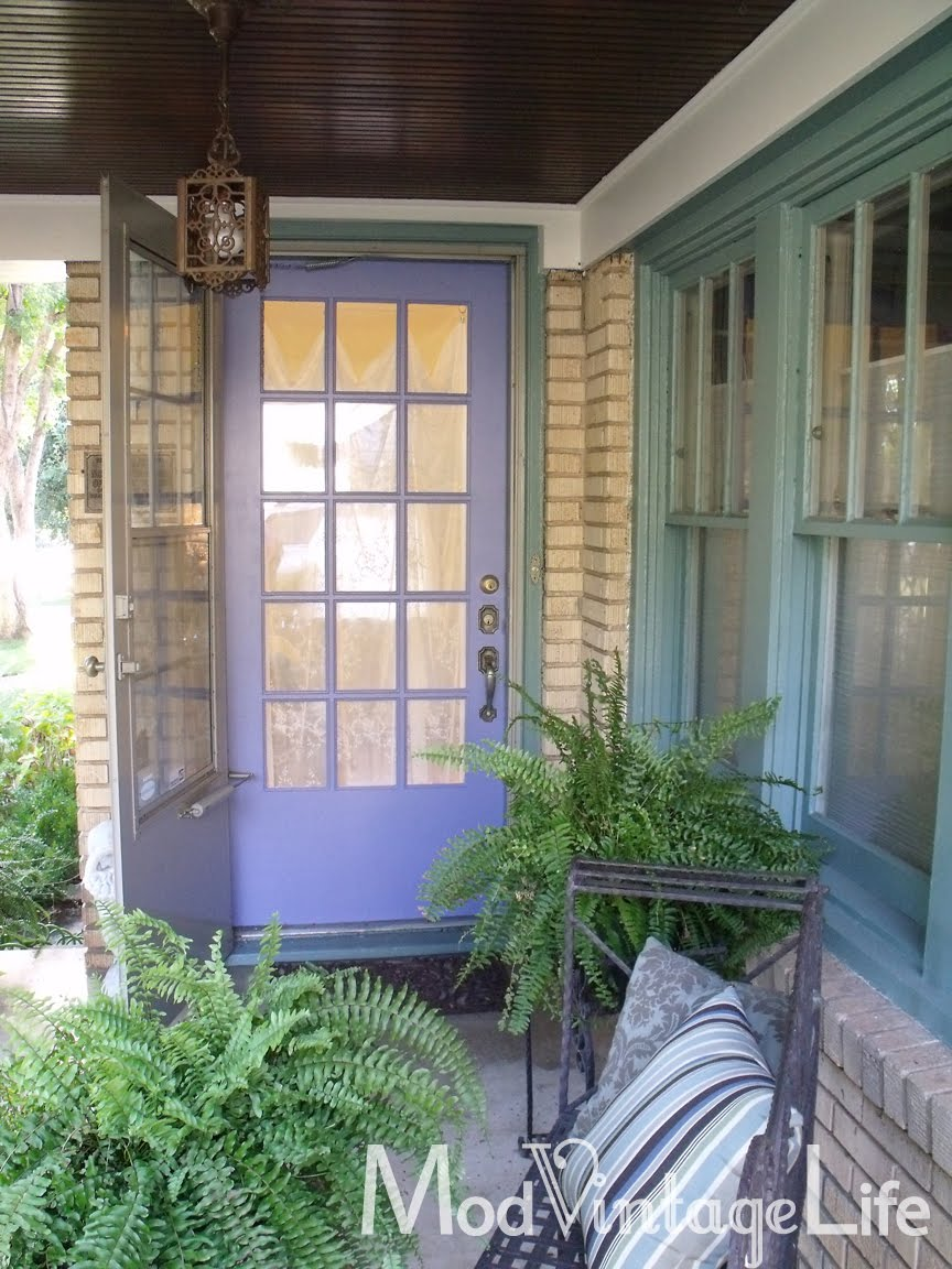 Mod Vintage Life Periwinkle Front Door