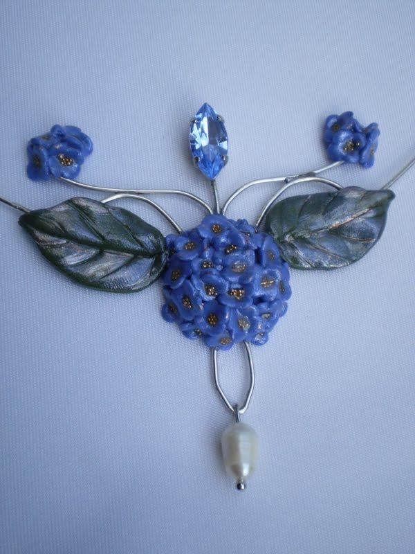 Il mondo di redanny ciondolo ortensia - Ortensia blu ...