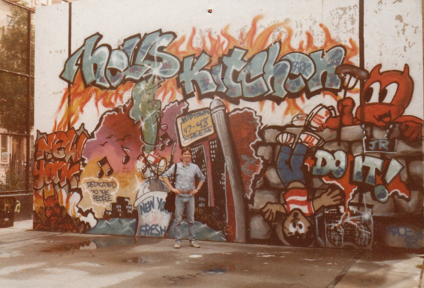 Graffiti from hells kitchen nyc 1980s