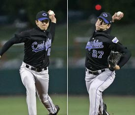 Ambidextrous Pitcher Pat Venditte - New York Yankees