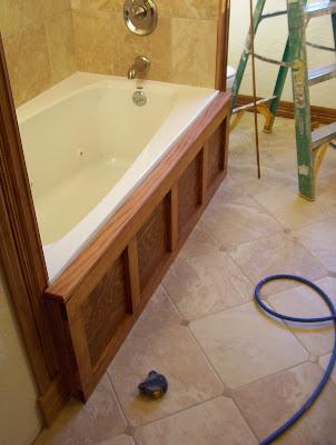Architectural Refinement Wood Panel Jacuzzi Bath Access Cover