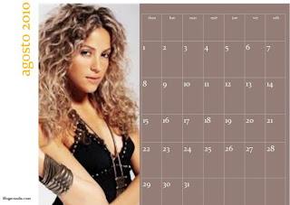 Calendario agosto 2010 imprimible