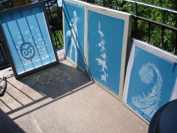 emulsion screen printing aluminum frames