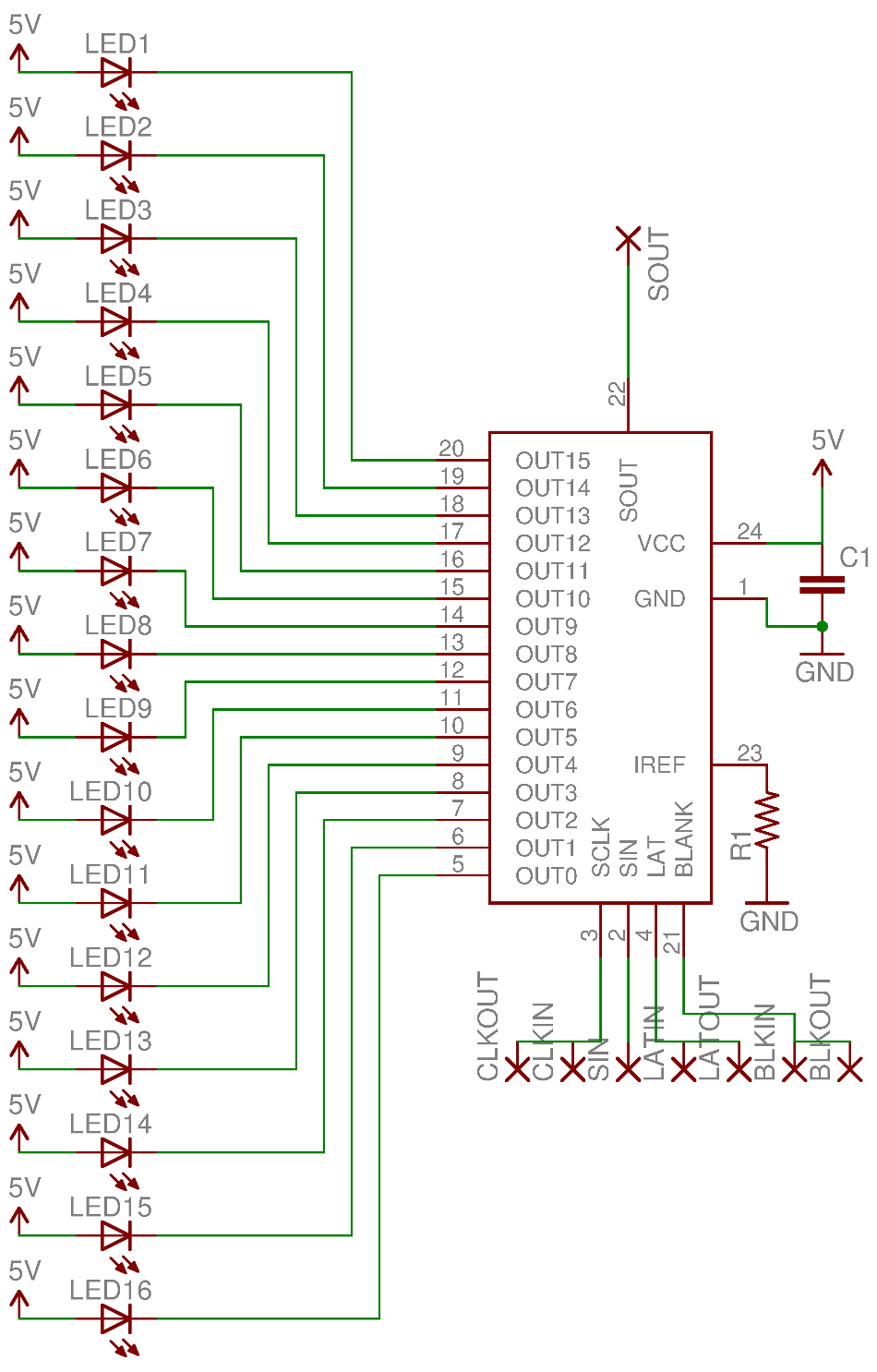 led_schmatic microcontrollers, electronics & robotics pov globe part iii LED Lights AC Wiring-Diagram at nearapp.co