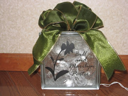 Personalized Glass Block with Lights