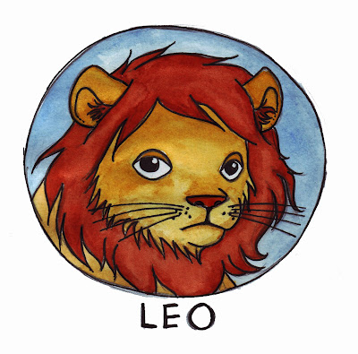 ... of zodiac symbols, here's Leo. He's the first one I've finished