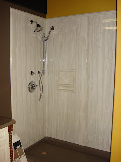 Cultured marble showers