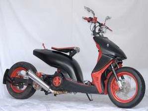 Modifikasi Motor Honda Vario 2008 Low Rider