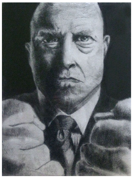 Michael Chiklis - The Thing from Fantastic 4  (Charcoal on Paper)