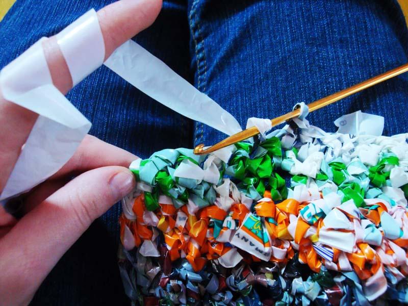 Blendwerk Aufbewahrungskorb Aus Plastiktüten
