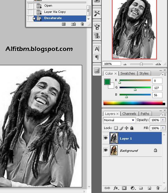 Iqbal Nawie Edit Foto Seperti Bob Marley