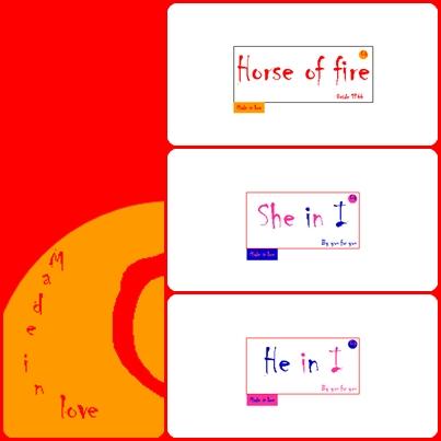 Caballo de fuego/Horse of fire