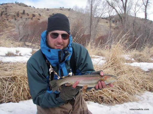 very cold fly fishing