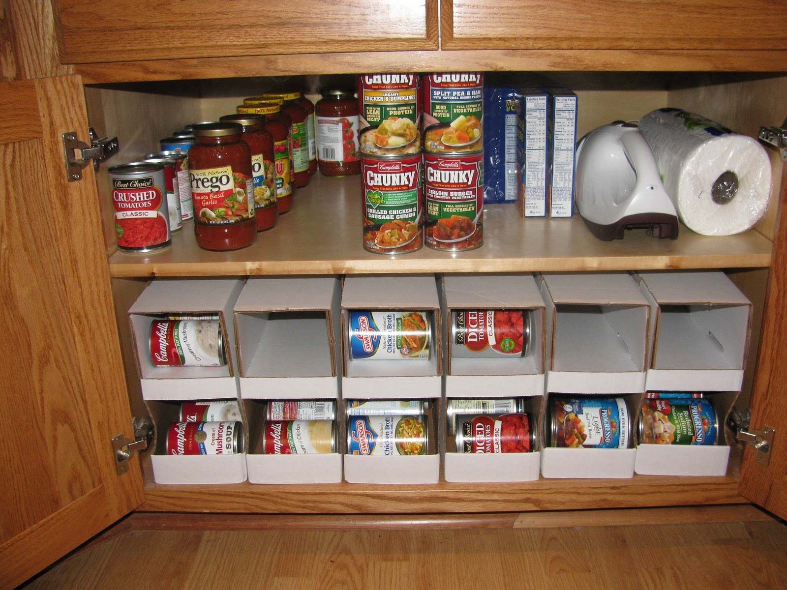 The harried homemaker preps the can organizer a review for Can good storage ideas