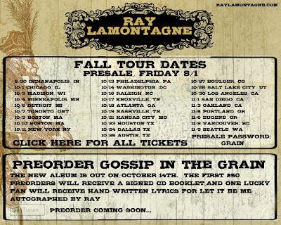 Ray Lamontagne Tour Memphis
