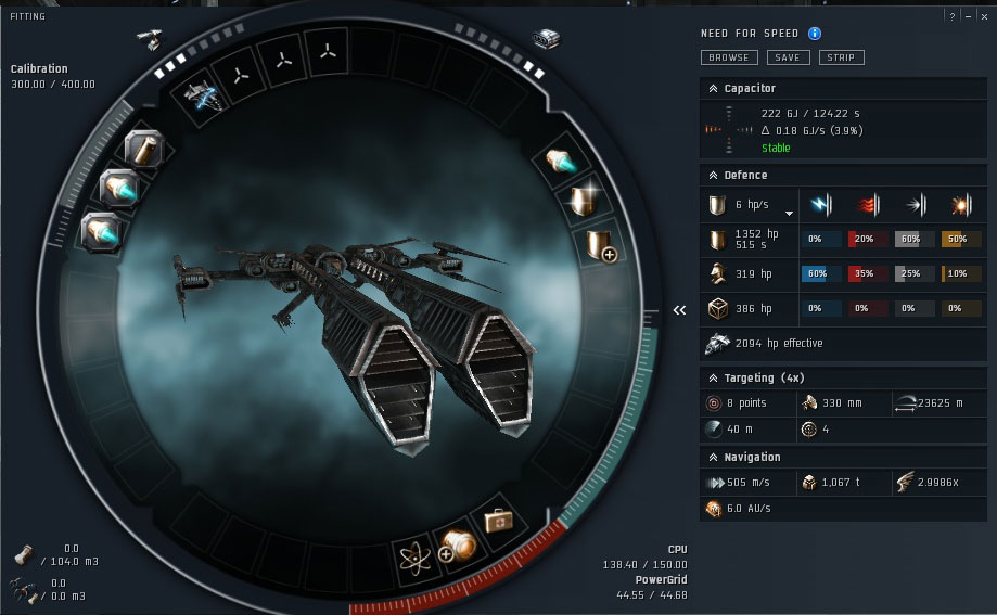 eve online low slot cap