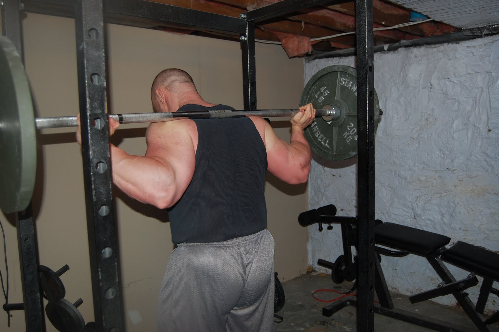 This Is A Low Bar Placement. It Sits Right On Top Of My Rear Delts.