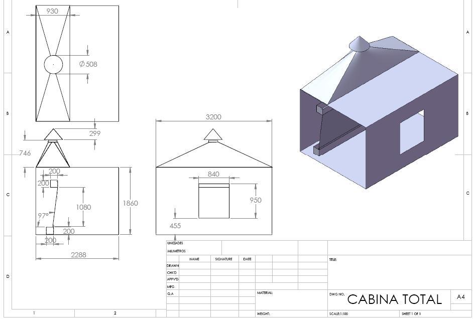 Proyecto cabina de pintura dise o cabina de pintura for Cabina de pintura portatil