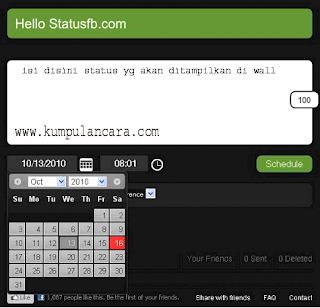 Cara Update Status Facebook Otomatis