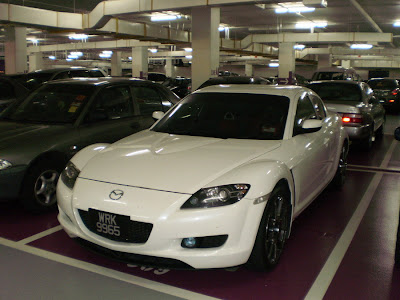 white Mazda RX-8
