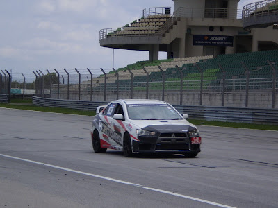 Time To Attack Sepang black head Evo X Singapore