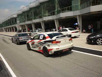 Time To Attack Sepang Lancer Evolution X race car