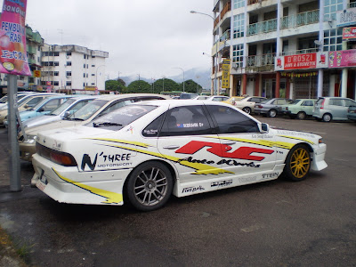 White color Nissan Cefiro A31 drift machine