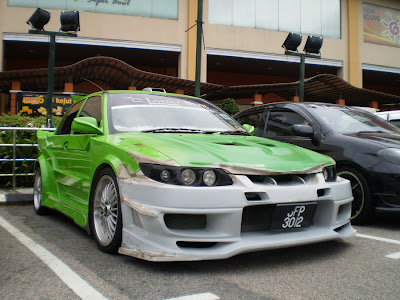Proton Wira custom wide bodykit