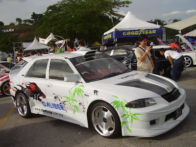Proton Wira Aeroback audio car with custom body ki