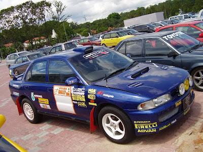 Wira rally car
