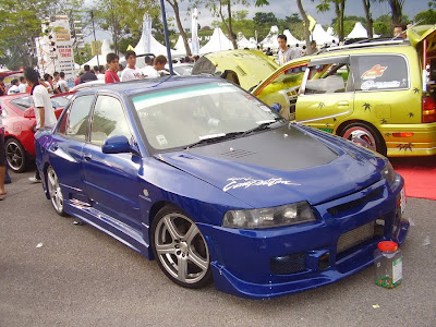 Wide body Wira with Evo VI headlamp