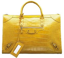 Balenciaga Crocodile Work Bag