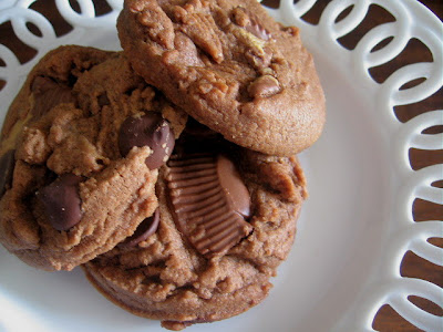 Chocolate Peanut Butter Cup Cookies from My Five Men
