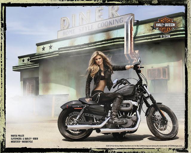 Marisa Miller - Sexy Harley Davidson Ads, Spring 2010