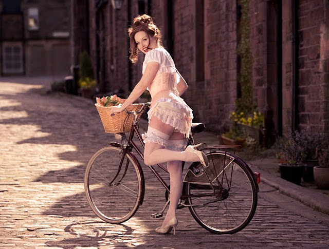 Sexy Girl and Bike