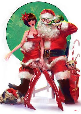 bad santa drawing