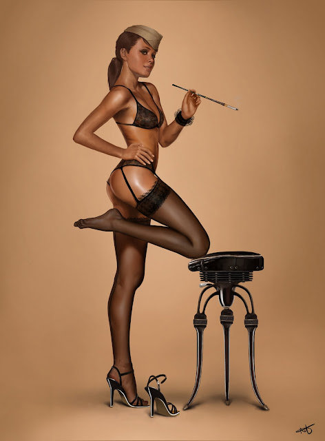 Amazing Pin Up girl by Camino-0