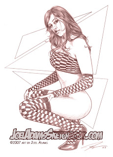 Joel Adams pin up drawings